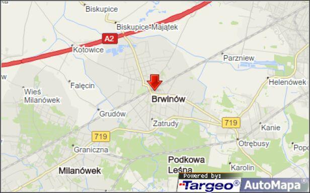Do wypadku doszło na torach w Brwinowie  Mapy Targeo