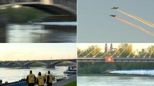 5 rano nad Wisłą: samoloty pod mostami