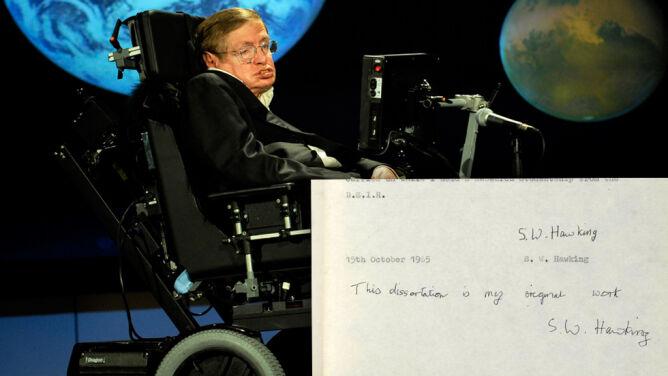 Najsłynniejszy doktorat świata. Praca Stephena Hawkinga ma już dwa miliony odsłon