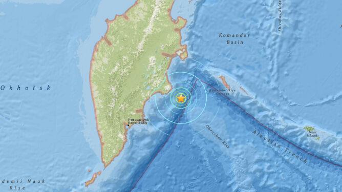 Potężne trzęsienie ziemi w Rosji