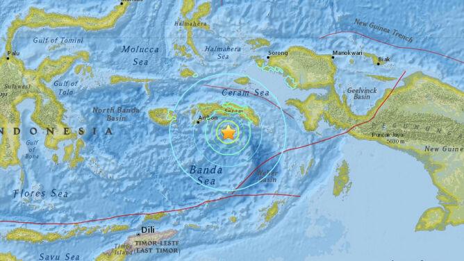 Silne trzęsienie ziemi nawiedziło Indonezję