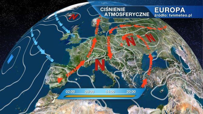 Pogodę w Polsce kształtuje niż znad Białorusi