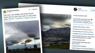 """""""Najeźdźcy z kosmosu"""", """"Flota UFO nad Kapsztadem"""". Internauci publikują niezwykłe zdjęcia"""