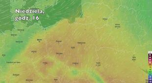 Temperatura w ciągu w kolejnych pięciu dni (Ventusky.com) (wideo bez dźwięku)